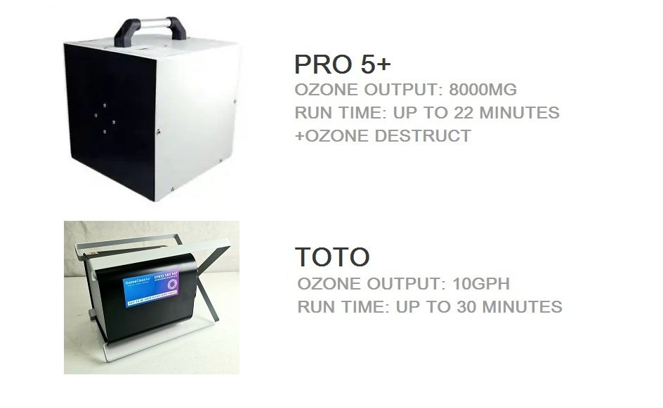 Ozone Clean Air Rental machines